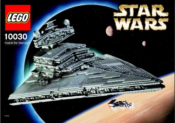 Imperial Star Destroyer 10030 Lego Instructions Old