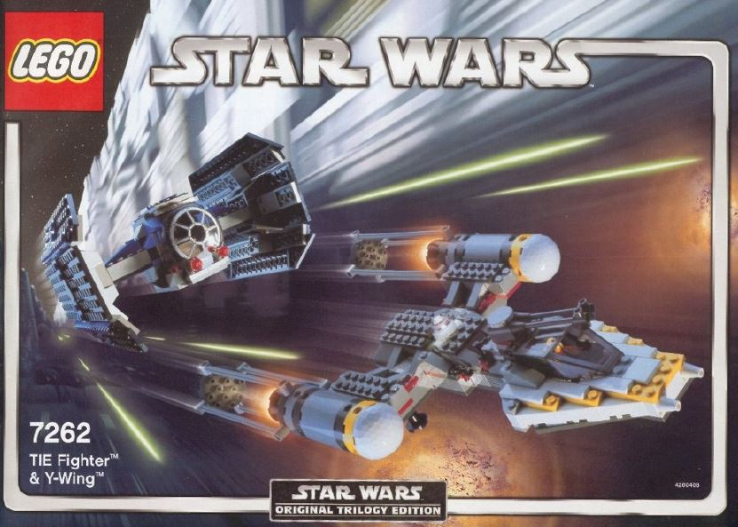 Tie Fighter And Y Wing 7262 Lego Instructions Old